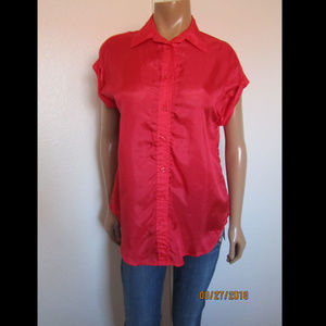 American Eagle Outfitters Boyfriend Fit Silk Shirt
